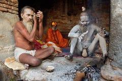 Babza santi di Sadhu Immagine Stock Libera da Diritti