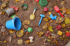 Bac à sable abandonné Images libres de droits