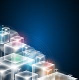 Bac дела принципиальной схемы компьютерной технологии куба безграничности Стоковое Фото