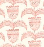 Bac флористической картины шнурка безшовной восточный стильный Стоковые Изображения RF