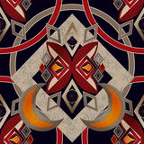 Безшовные абстрактные косоугольники картины придают квадратную форму bac текстуры геометрическому Стоковое фото RF