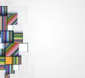 BAC astratto di affari di tecnologia del cubo del computer del circuito della struttura illustrazione di stock