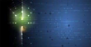 BAC astratto di affari di tecnologia del cubo del computer del circuito della struttura illustrazione vettoriale