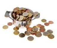 Bac avec de l'argent photographie stock