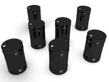bac barrels svart white för behållarevalsolja Royaltyfri Foto