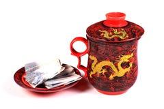Bac chinois de thé Photos stock