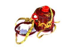 Bac chinois de thé Photographie stock
