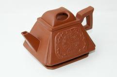 Bac chinois de thé d'argile rouge Images stock