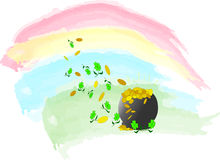 Bac d'or illustration de vecteur