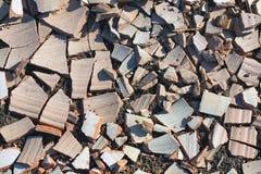 Bac d'argile cassé Images stock