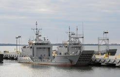 bac de bateaux d'armée Photographie stock libre de droits