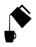 Bac de café pleuvant à torrents Illustratio illustration stock