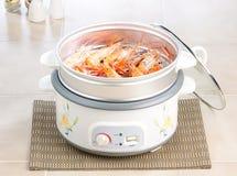 Bac de cuisson à la vapeur électrique Photos stock