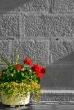 Bac de fleur photo stock