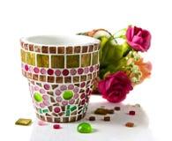 Bac de fleur de mosaïque Images libres de droits