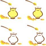 Bac de miel et clou de girofle de citron Image stock