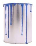 Bac de peinture bleu image libre de droits