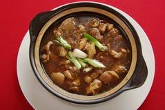 Bac de porc de sauce de soja Images libres de droits