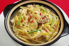 Bac de potage de poulet Photo stock