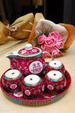 Bac de thé de la Chine photographie stock