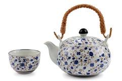 Bac de thé avec la cuvette Image libre de droits