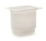 Bac de yaourt Photographie stock