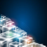 BAC di affari di concetto di tecnologie informatiche del cubo di infinito Fotografia Stock