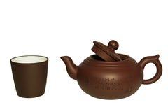 Bac et cuvette de thé Photographie stock