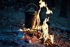 Bac et incendie Photographie stock libre de droits