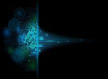 Bac för affär för begrepp för datateknik för musikvolymutjämnare Royaltyfri Bild