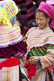 Bac Ha Market. VIETNAM - JULY 5: Hmong women at  on July 5, 2009 in Lao Cai, Vietnam. Bac Ha is hilltribe market where hilltribe people come to trade for goods Stock Images