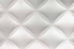 BAC interno domestico moderno bianco della parete delle mattonelle del polistirolo dell'estratto 3D Immagine Stock Libera da Diritti