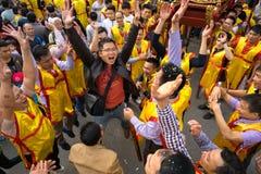 Bac Ninh, Vietnam - 31 de enero de 2017: El festival de primavera tradicional de Dong Ky, un ritual especial del festival de Dong Fotos de archivo libres de regalías
