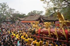 Bac Ninh, Vietnam - 31 de enero de 2017: El festival de primavera tradicional de Dong Ky, un ritual especial del festival de Dong Fotografía de archivo
