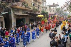 Bac Ninh, Vietnam - 31 de enero de 2017: El festival de primavera tradicional de Dong Ky, un ritual especial del festival de Dong Fotografía de archivo libre de regalías
