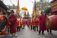 Bac Ninh, Vietnam - 31 de enero de 2017: El festival de primavera tradicional de Dong Ky, un ritual especial del festival de Dong Imágenes de archivo libres de regalías