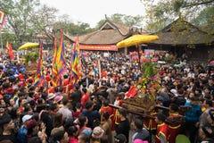 Bac Ninh, Vietnam - 31 de enero de 2017: El festival de primavera tradicional de Dong Ky, un ritual especial del festival de Dong Imagen de archivo libre de regalías
