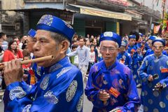 Bac Ninh, Vietnam - Jan 31, 2017: Dong Ky traditional spring festival, a special ritual of the Dong Ky festival used to be the set Stock Image