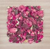 Bac-pourri sec de pétale de rose Photos stock