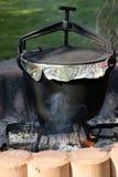 Bac sur l'incendie Photo stock