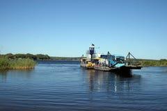 Bac sur le fleuve de Zambezi Image libre de droits