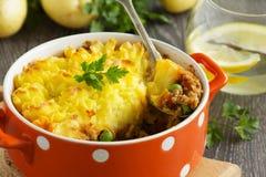 Baca kulebiak, angielska kuchnia Zdjęcie Royalty Free