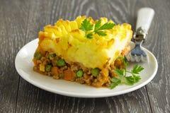 Baca kulebiak, angielska kuchnia Zdjęcie Stock