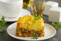 Baca kulebiak, angielska kuchnia Fotografia Royalty Free