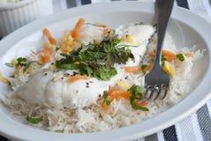 Bacalao con arroz Foto de archivo