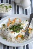 Bacalao con arroz Imagen de archivo libre de regalías
