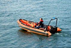 Bacalao de cabo de la patrulla del puerto Fotografía de archivo