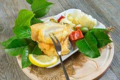 Bacalao frito foto de archivo