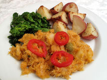 Bacalao With Peppers Stock Photo