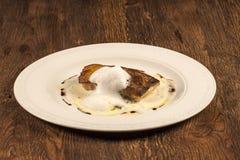 Bacalao spanish fish fillet stock photo